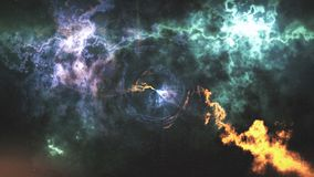 Space-time κυρτότητα, πτήση σε μια μαύρη τρύπα, διαστημική αφηρημένη σύνθεση διανυσματική απεικόνιση
