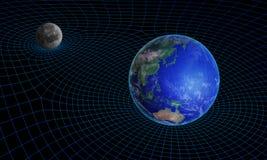 Space-time κυρτότητα συνέχειας Στοκ φωτογραφίες με δικαίωμα ελεύθερης χρήσης