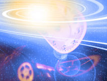 Space Time. Whirling Galaxy and Space Time Royalty Free Stock Image