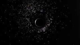 Space and Time Being Sucked by a Black Hole in a Star Cluster stock footage