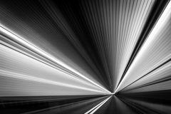 Space-Time continuum. Abstract  time-warp  photo taken from a moving car inside a tunnel Royalty Free Stock Image
