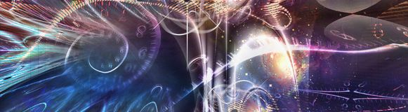 Space Time Illustration. Gravity. 3D rendering Stock Photos