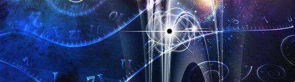 Space Time Illustration. Space Time and Physics Illustration Royalty Free Stock Photo