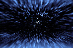 Big Bang Star Hyperspace Wars stock images