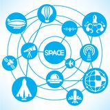 Space transportation Royalty Free Stock Images