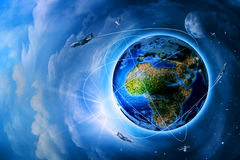 Space transportation and technologies Royalty Free Stock Photo