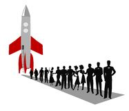Space travel concept Royalty Free Stock Image