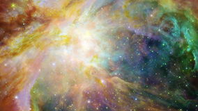Space Travel - Galaxy 005. Traveling through a galaxy and star fields in deep space stock footage