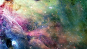 Space Travel - Galaxy 002. Traveling through a galaxy and star fields in deep space