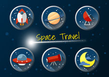 Space travel Royalty Free Stock Photo