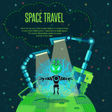 Space travel. Vector illustration in style flat Royalty Free Stock Images