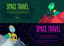 Space travel. Vector illustration in style flat Stock Image