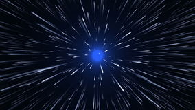 Space travel - Warp Speed stock video footage