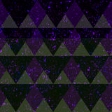 Space triangle seamless pattern with grunge effect royalty free illustration