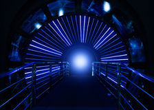 Space tunnel leading to future Stock Image