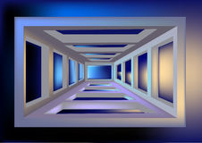 Space tunnel Stock Photo