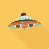 Space ufo flat icon Stock Photography