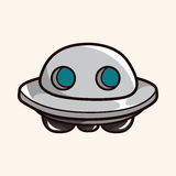 Space UFO theme elements vector, eps Royalty Free Stock Images
