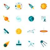 Space Universe Flat Icon Set Stock Photo