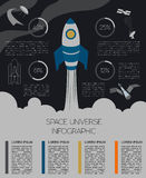 Space, universe graphic design. Infographic template Royalty Free Stock Images