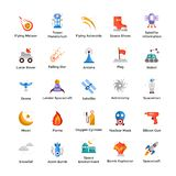 Space And Universe Icons Bundle royalty free illustration