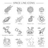 Space Universe Line Icon Set Royalty Free Stock Photo
