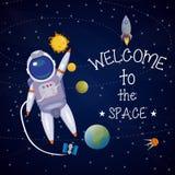 Space Universe Poster Stock Photos