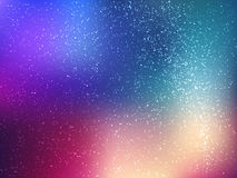 Space vector background with stars. Universe illustration. Colored cosmos backdrop with stars claster. Royalty Free Stock Photos