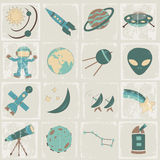 Space vector icon set Stock Images