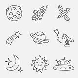 Space. Vector icons Stock Images
