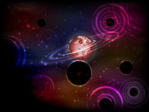 Space. Vector illustration for your design. Beautiful, fantastic and magical. Royalty Free Stock Image