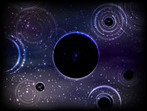 Space. Vector illustration for your design. Beautiful, fantastic and magical. Stock Photo