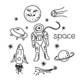 Space vector objects Stock Photography