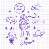Space vector objects Stock Photos