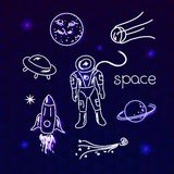 Space vector objects Royalty Free Stock Images