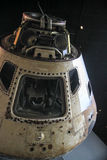 Space vehicle reentry capsule white on black Stock Images