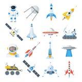 Space vehicle set Stock Photos
