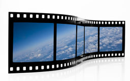 Space View Film Strip. Space View from aircraft Film Strip royalty free stock photo