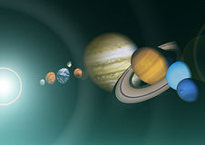 Space view of the solar system Royalty Free Stock Image