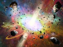 Space vortex fantasy Royalty Free Stock Images