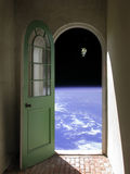 Space Walk through Arched Doorway Stock Photography