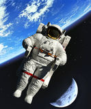Space walk vector illustration Stock Photos