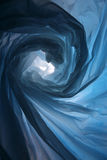 Space warp - Abstract of blue plastic bag Stock Photos