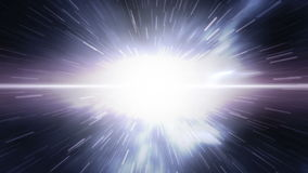 Space warp, futuristic timetravel to earth 4K stock video footage