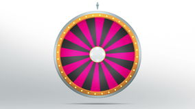 24 space of Wheel fortune. The wheel of fortune or Lucky spin animation was created by Three Dimensional. Video is included the alpha channel and motion loop Vector Illustration