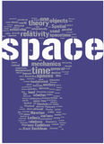 Space word cloud royalty free illustration