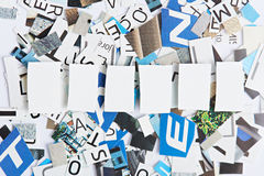 Space for word of six letters Stock Images