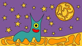 Space worm Royalty Free Stock Photography