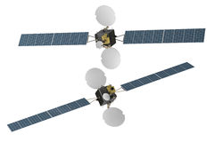 Spacecraf för utrymmetelekommunikationsatellit Royaltyfri Fotografi