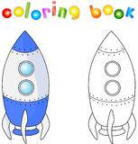 Spacecraft or aerospace vehicle. Coloring book for children abou. T space. Vector illustration Stock Images